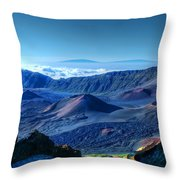 Haleakala Crater 1 Throw Pillow by Ken Smith