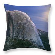 Half Dome Moon Rise Throw Pillow