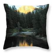 Half Dome Reflection Throw Pillow