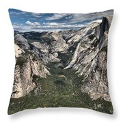 Half Dome Valley Throw Pillow