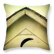 Half Moon On Rurual Outhouse Throw Pillow
