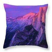 Half Purple Dome Throw Pillow