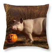 Halloween Pig Throw Pillow