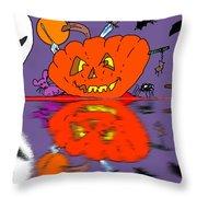 Halloween Reflections Throw Pillow