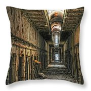 Hallway Eastern State Penitentiary  Throw Pillow