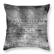 Hamilton: Pamphlet, 1797 Throw Pillow