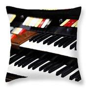 Hammond Electric Organ Throw Pillow