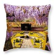 Hampton Court Gardens IIi Throw Pillow