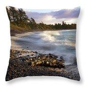 Hana Beach And Wave Throw Pillow