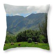 Hanalei Horses Throw Pillow
