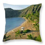 Hanauma Bay Beach Throw Pillow