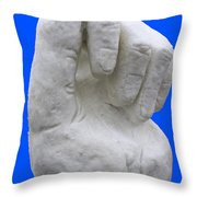 Hand In Snow Throw Pillow