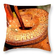Hand Pump - Water Pump - Well Pump Throw Pillow