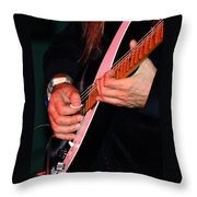 Sun In The Hands And Guitar Of Uli Jon Roth Throw Pillow