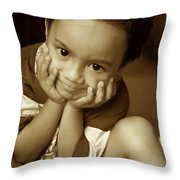 Hands Cupped Throw Pillow