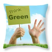 Hands In The Grass On White Throw Pillow