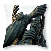 Hands Of Iwo Jima Throw Pillow