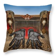 Hands Of Time Reaches For You Throw Pillow