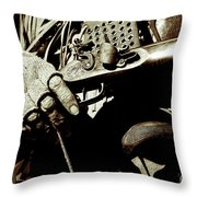 Hands On Rifle Throw Pillow