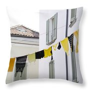 Hanging Clothes Throw Pillow
