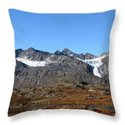 Hanging Glacier Throw Pillow