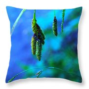 Hanging Green  Throw Pillow