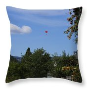 Hanging Out Over Midway Throw Pillow