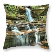 Hanging Rock Cascades Throw Pillow