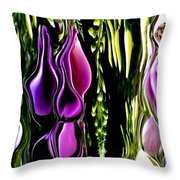 Hanging Vine From Photo Of Digitalis 1 Per Gimp Throw Pillow