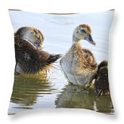 Hanging With The Buds Throw Pillow