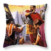 Hannibal Discovers The Grisly Fate Of His Brother Hasdrubal Throw Pillow