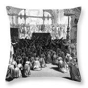 Hannukah Celebration, 1880 Throw Pillow