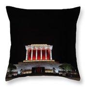 Hanoi Ho Chi Minh Mausoleum Throw Pillow