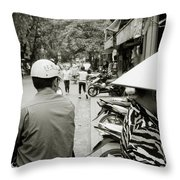 Hanoi In Vietnam Throw Pillow