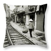 Hanoi Life Throw Pillow