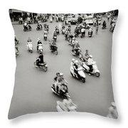 Hanoi Traffic Throw Pillow