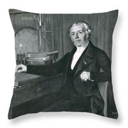 Hans Christian �rsted, Danish Physicist Throw Pillow