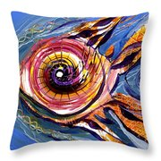 Happified Swirl Fish Throw Pillow