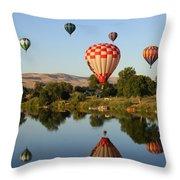 Happy Balloon Day Throw Pillow