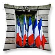 Happy Bastille Day Throw Pillow