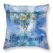 Happy Birthday - Card Design Throw Pillow