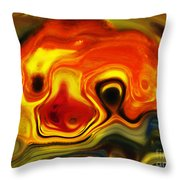 Happy Critter Throw Pillow