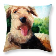Happy Dale Throw Pillow