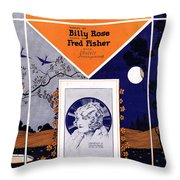 Happy Days And Lonely Nights Throw Pillow by Mel Thompson