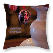 Happy Easter Poster Throw Pillow