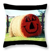 Happy Fall Face Throw Pillow