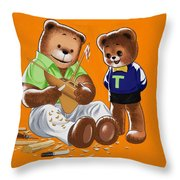 Happy Fathers Day Throw Pillow