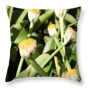 Happy Flower Forest Throw Pillow