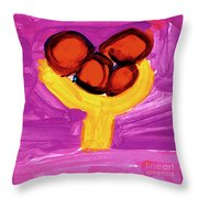 Happy Fruit Throw Pillow