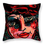Happy Girl Throw Pillow by Natalie Holland